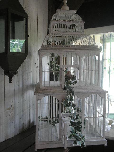 Witte vogelkooi for Vogelkooi decoratie